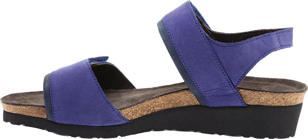 Women's Naot Aisha Ankle Strap Wedge Sandal, Indigo Nubuck Leather/Ink Leather, large, image 3