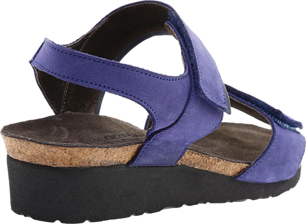 Women's Naot Aisha Ankle Strap Wedge Sandal, Indigo Nubuck Leather/Ink Leather, large, image 4