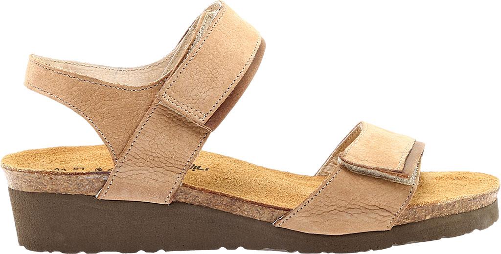 Women's Naot Aisha Ankle Strap Wedge Sandal, Nude Nubuck Leather/Saddle Brown Leather, large, image 2