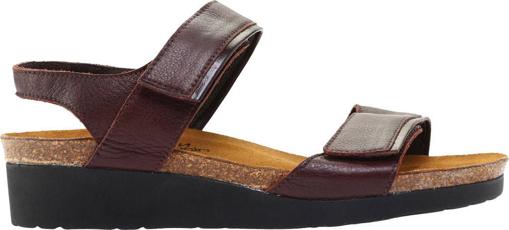 Women's Naot Aisha Ankle Strap Wedge Sandal, Soft Brown Leather/Walnut Leather, large, image 2