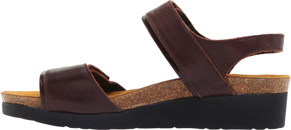 Women's Naot Aisha Ankle Strap Wedge Sandal, Soft Brown Leather/Walnut Leather, large, image 3