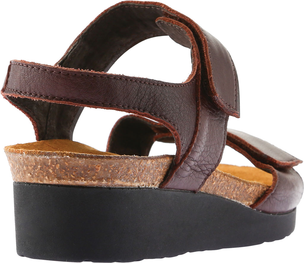Women's Naot Aisha Ankle Strap Wedge Sandal, Soft Brown Leather/Walnut Leather, large, image 4