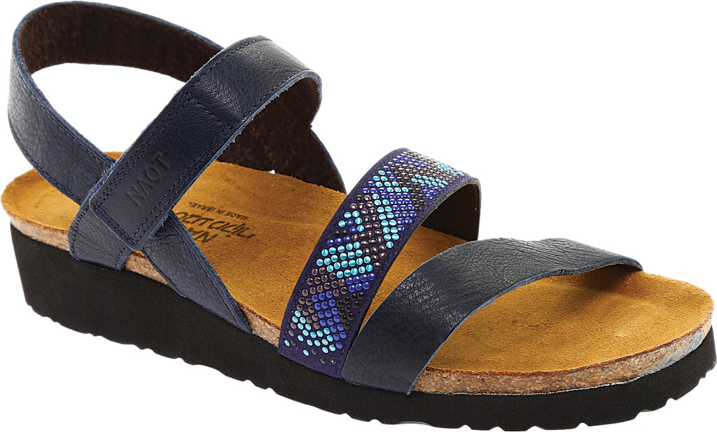 Women's Naot Gwyneth Ankle Strap Sandal, Ink/Blue Leather, large, image 1