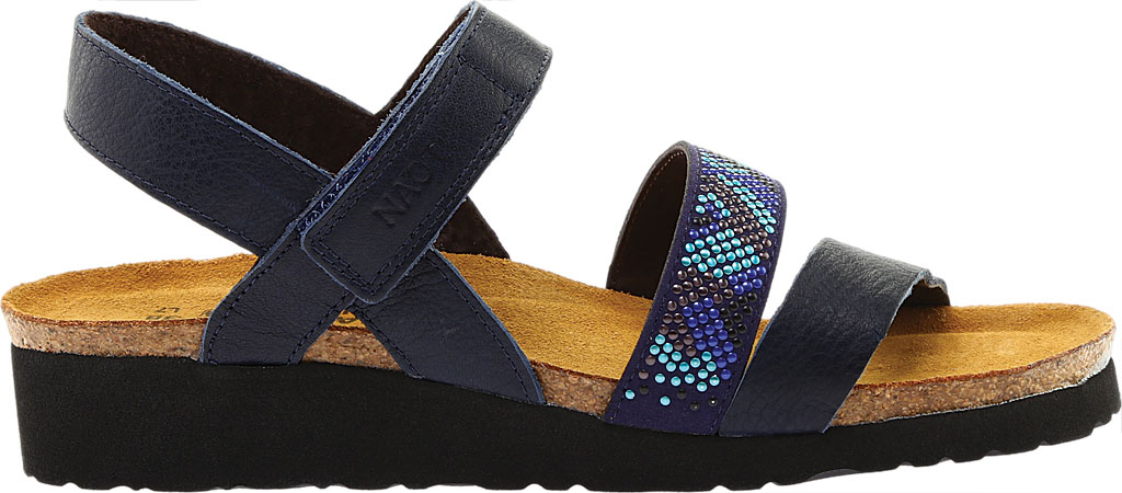 Women's Naot Gwyneth Ankle Strap Sandal, Ink/Blue Leather, large, image 2