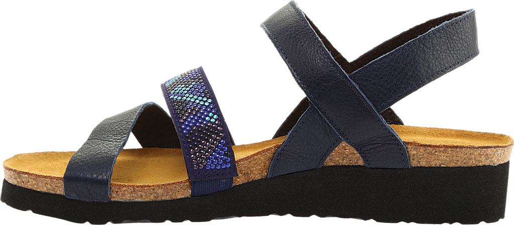 Women's Naot Gwyneth Ankle Strap Sandal, Ink/Blue Leather, large, image 3