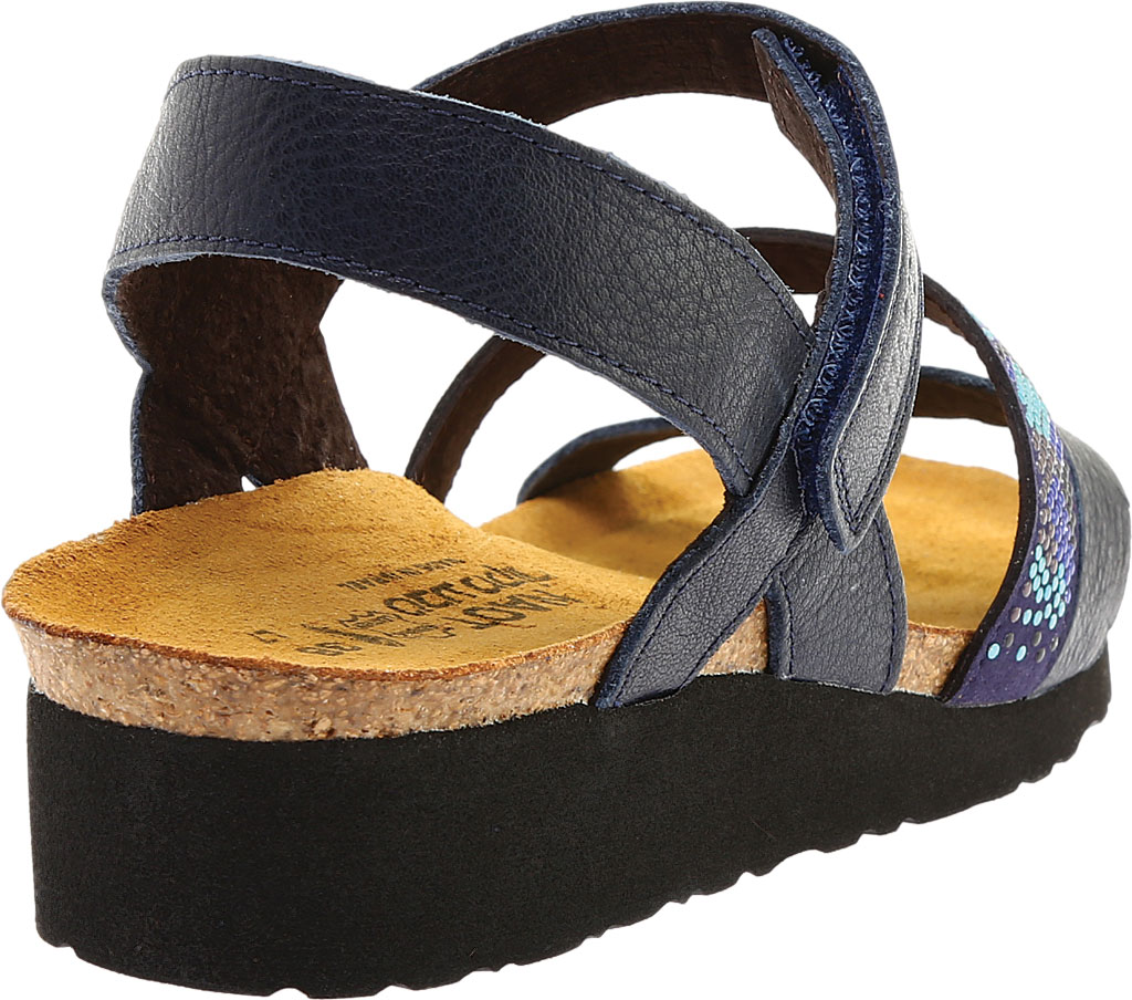 Women's Naot Gwyneth Ankle Strap Sandal, Ink/Blue Leather, large, image 4