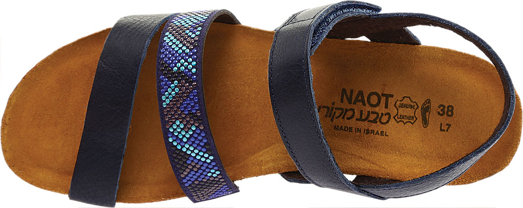 Women's Naot Gwyneth Ankle Strap Sandal, Ink/Blue Leather, large, image 5