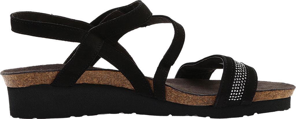 Women's Naot Cameron Slingback Wedge Sandal, Black Velvet, large, image 2