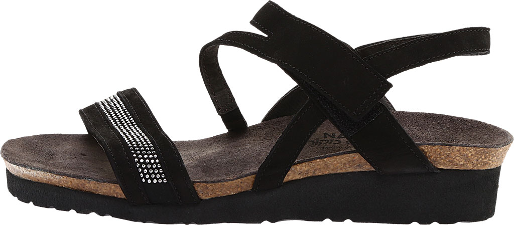 Women's Naot Cameron Slingback Wedge Sandal, Black Velvet, large, image 3
