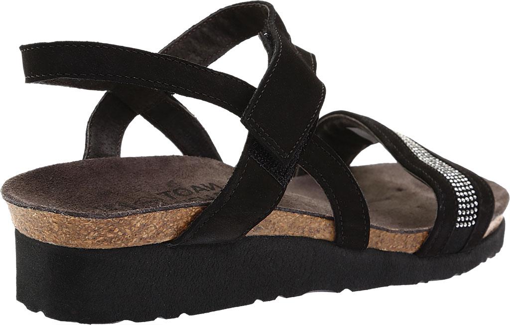 Women's Naot Cameron Slingback Wedge Sandal, Black Velvet, large, image 4