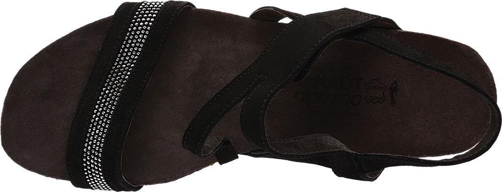 Women's Naot Cameron Slingback Wedge Sandal, Black Velvet, large, image 5
