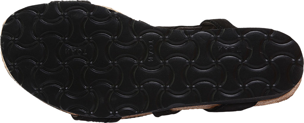 Women's Naot Cameron Slingback Wedge Sandal, Black Velvet, large, image 6