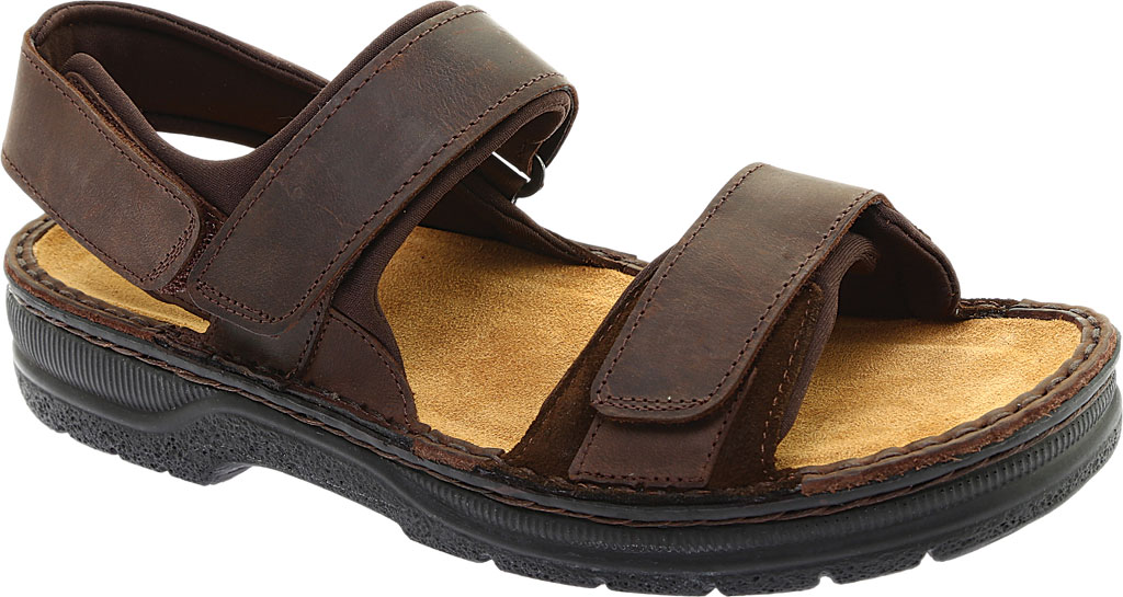 Men's Naot Arthur Ankle Strap Sandal, Crazy Horse/Hash Leather, large, image 1