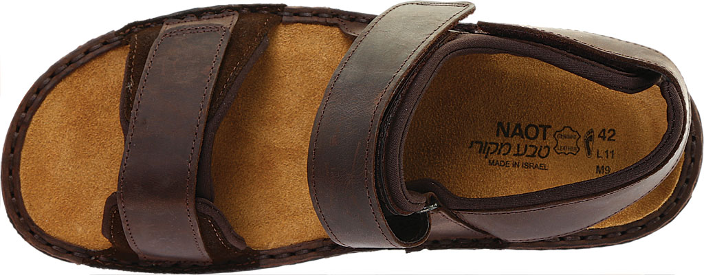 Men's Naot Arthur Ankle Strap Sandal, Crazy Horse/Hash Leather, large, image 5