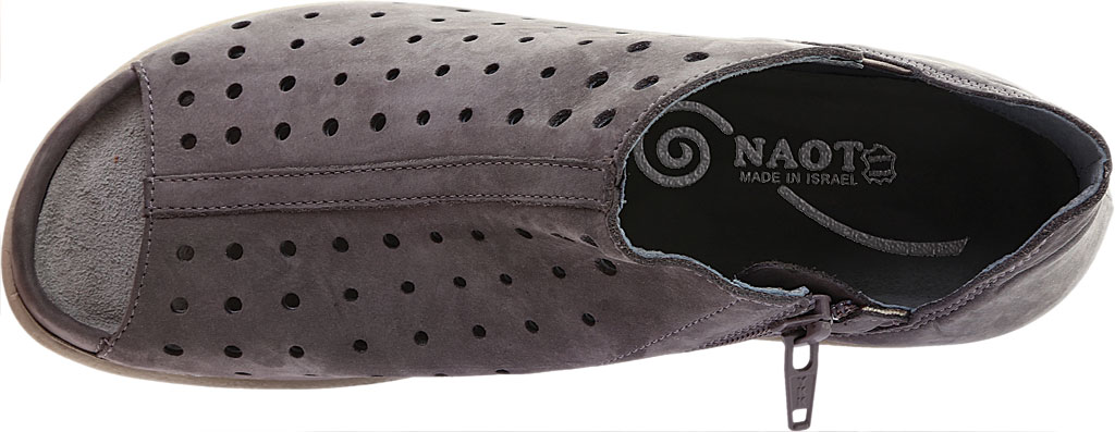 Women's Naot Hikoi Open Toe Bootie, Smoke Gray Nubuck, large, image 5