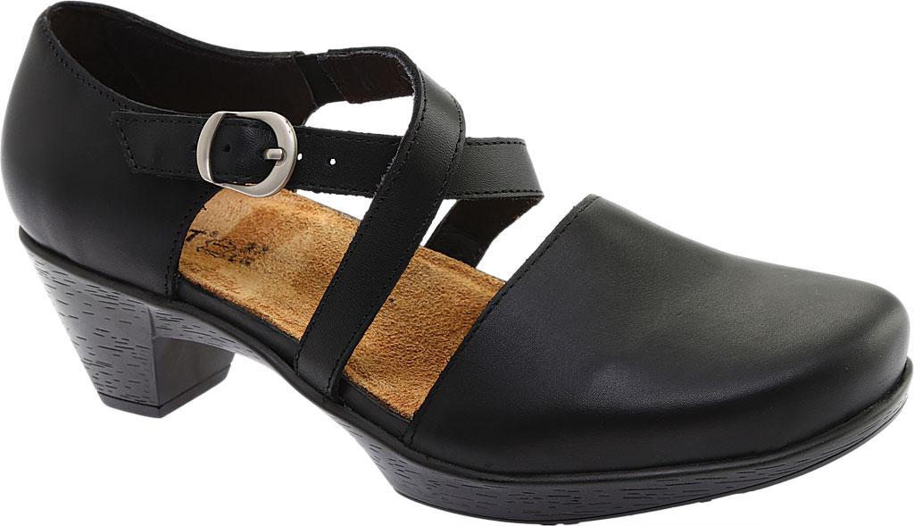 Women's Naot Surreal Closed Toe Sandal, Black Raven Leather, large, image 1