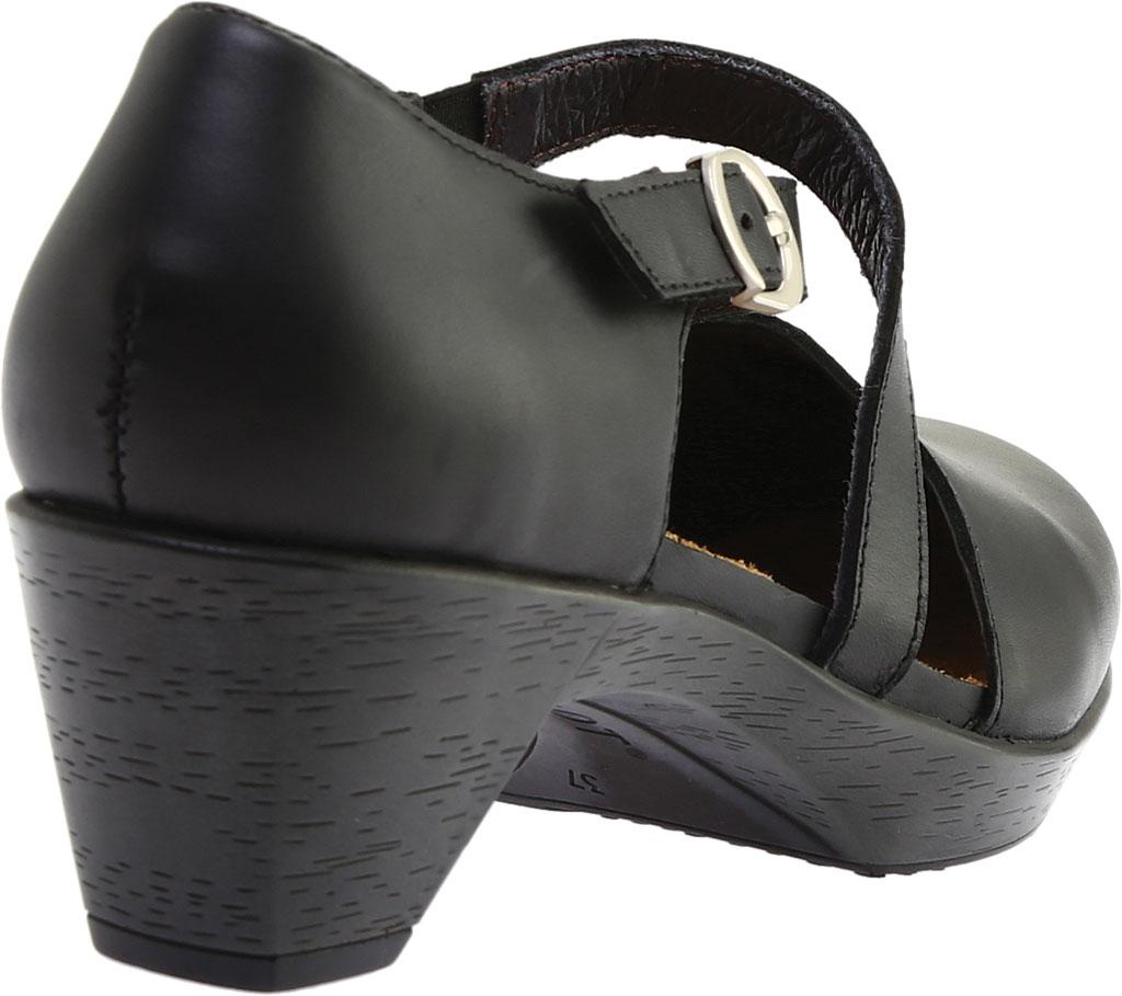 Women's Naot Surreal Closed Toe Sandal, Black Raven Leather, large, image 4