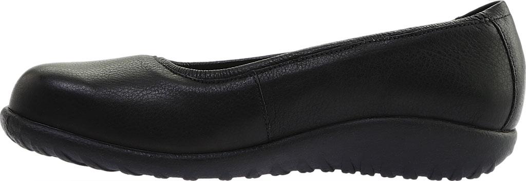 Women's Naot Taupo Ballet Flat, Soft Black Leather, large, image 3