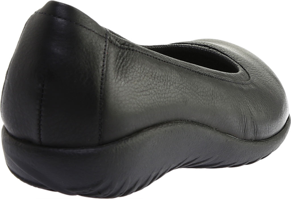 Women's Naot Taupo Ballet Flat, Soft Black Leather, large, image 4