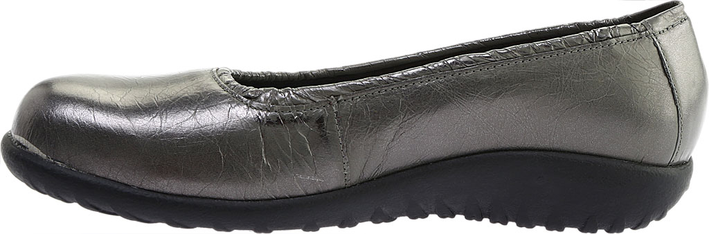 Women's Naot Taupo Ballet Flat, Crinkle Steel Leather, large, image 3