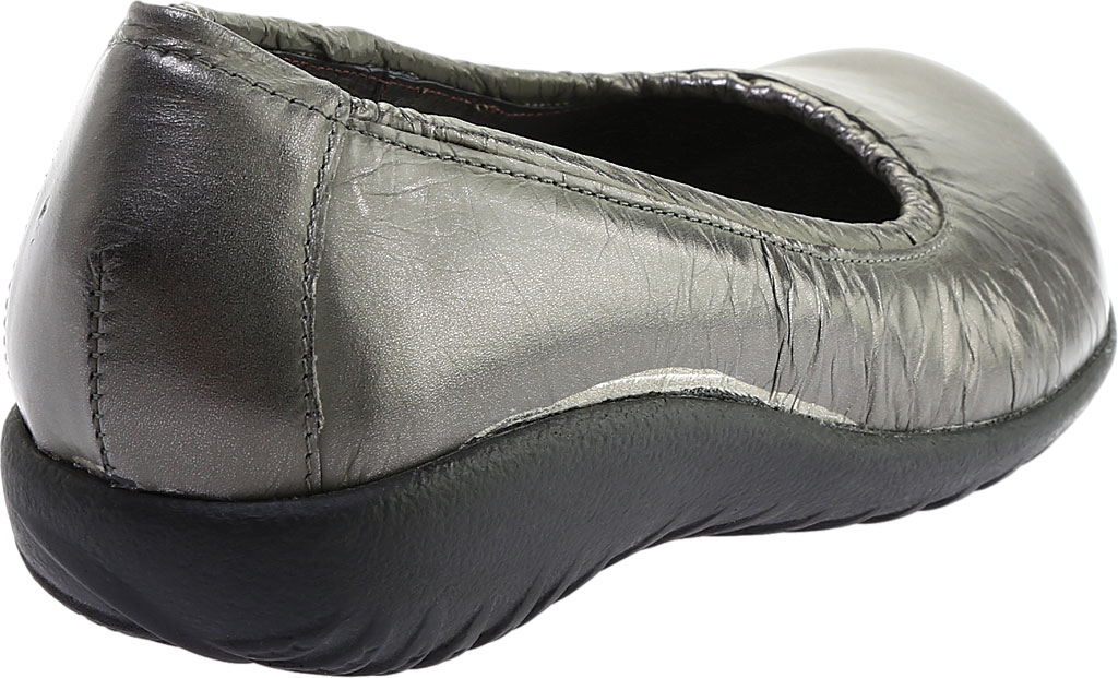 Women's Naot Taupo Ballet Flat, Crinkle Steel Leather, large, image 4