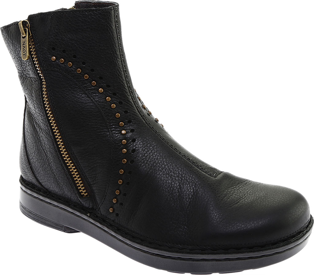 Women's Naot Cetona Bootie, Soft Black Smooth Leather, large, image 1