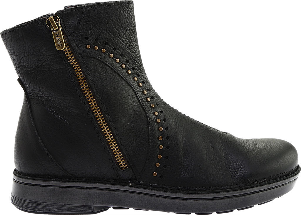 Women's Naot Cetona Bootie, Soft Black Smooth Leather, large, image 2