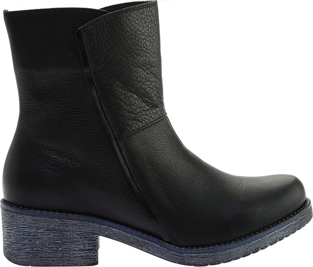 Women's Naot Hipster Ankle Boot, Soft Black Leather/Black Madras, large, image 2