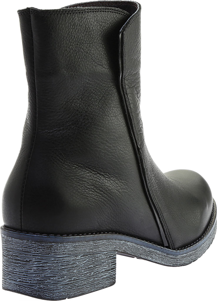 Women's Naot Hipster Ankle Boot, Soft Black Leather/Black Madras, large, image 4