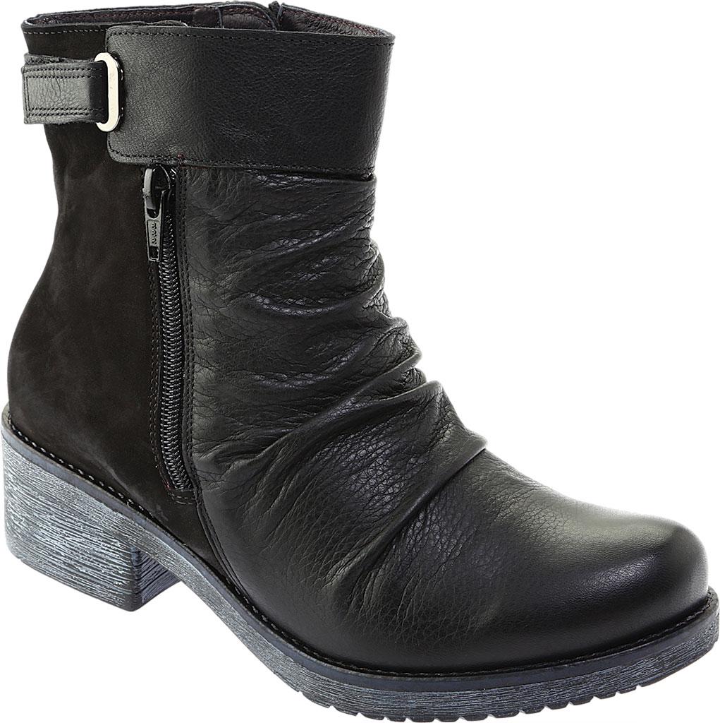 Women's Naot Artsy Ankle Boot, Soft Black Leather/Black Nubuck, large, image 1