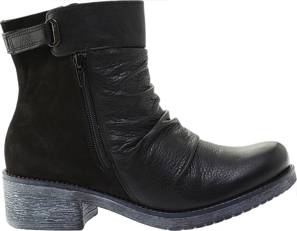Women's Naot Artsy Ankle Boot, Soft Black Leather/Black Nubuck, large, image 2