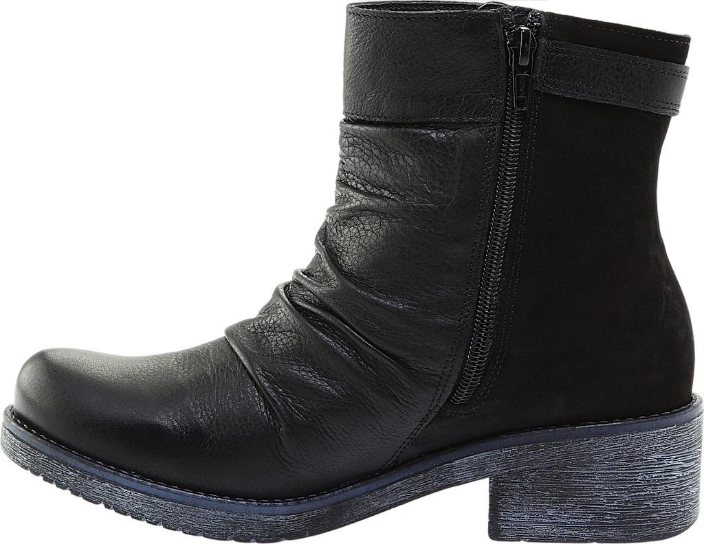 Women's Naot Artsy Ankle Boot, Soft Black Leather/Black Nubuck, large, image 3