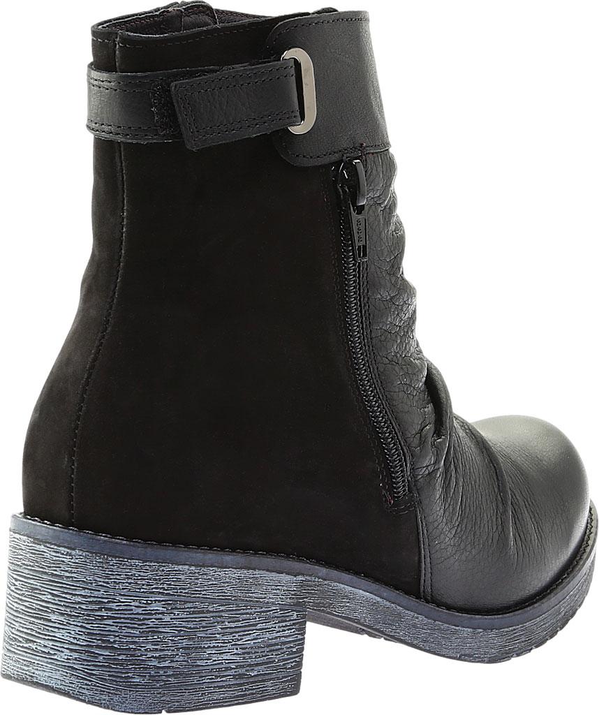 Women's Naot Artsy Ankle Boot, Soft Black Leather/Black Nubuck, large, image 4