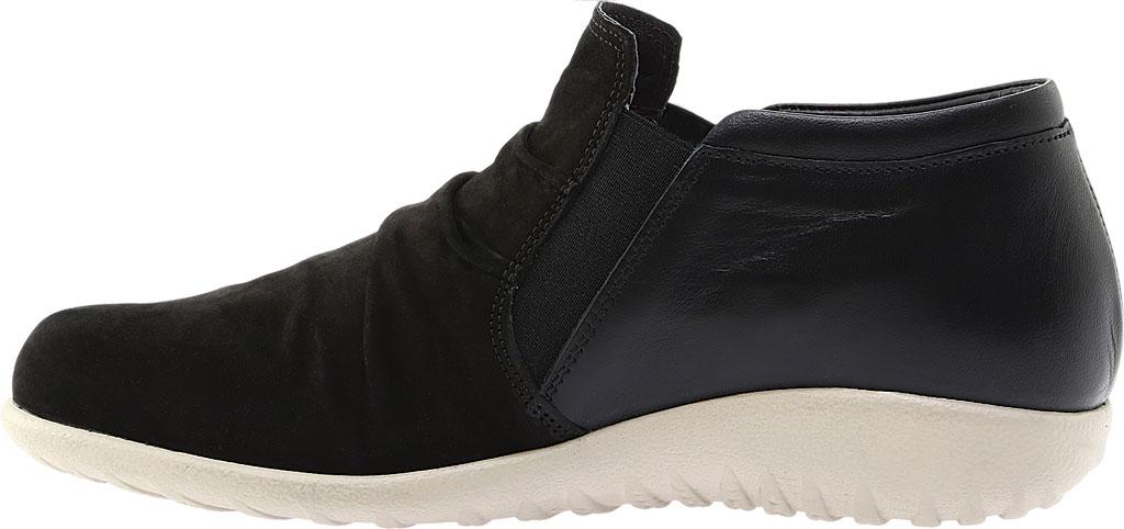Women's Naot Terehu Slip On, Black Nubuck/Black Raven Leather, large, image 3