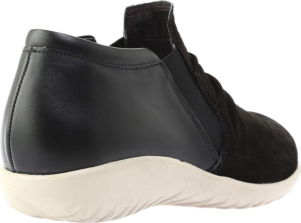 Women's Naot Terehu Slip On, Black Nubuck/Black Raven Leather, large, image 4
