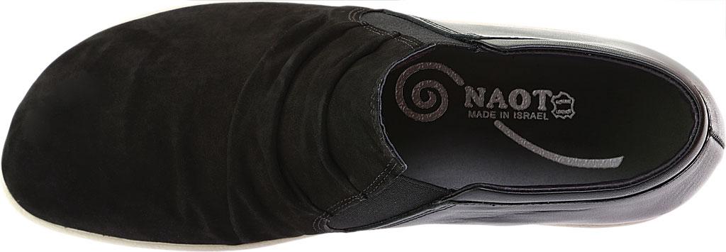 Women's Naot Terehu Slip On, Black Nubuck/Black Raven Leather, large, image 5