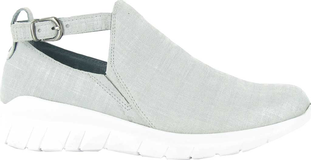 Women's Naot Cosmic Cut Out Sneaker, Gray Linen Leather, large, image 1