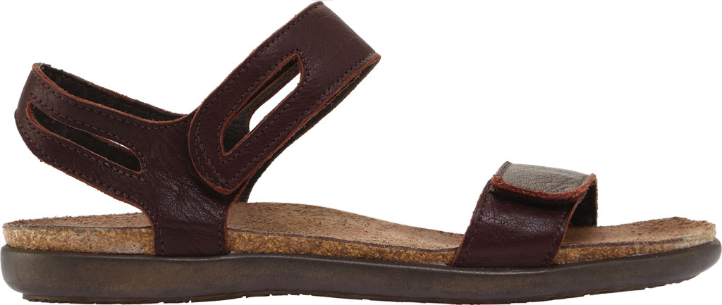 Women's Naot Courtney Hook and Loop Sandal, Soft Brown Leather, large, image 2