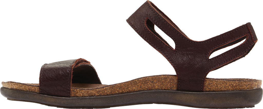 Women's Naot Courtney Hook and Loop Sandal, Soft Brown Leather, large, image 3