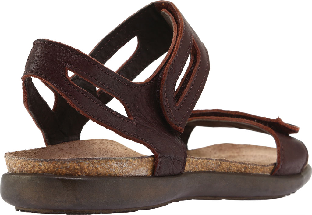 Women's Naot Courtney Hook and Loop Sandal, Soft Brown Leather, large, image 4