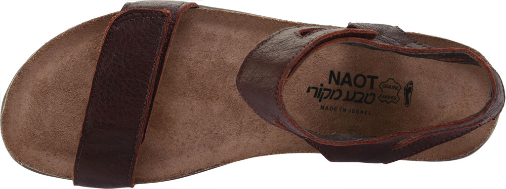 Women's Naot Courtney Hook and Loop Sandal, Soft Brown Leather, large, image 5