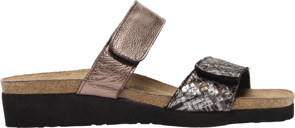 Women's Naot Althea Wedge Slide, Mixed Metallic Leather/Radiant Copper, large, image 2