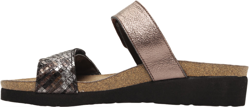 Women's Naot Althea Wedge Slide, Mixed Metallic Leather/Radiant Copper, large, image 3