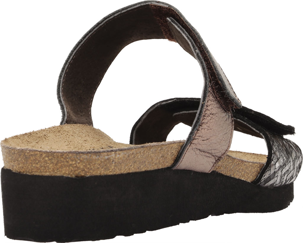 Women's Naot Althea Wedge Slide, Mixed Metallic Leather/Radiant Copper, large, image 4