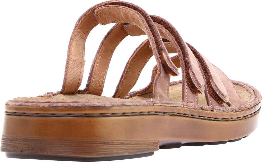 Women's Naot Trevi Slide, Mauve Nubuck/Rose Gold Leather, large, image 4