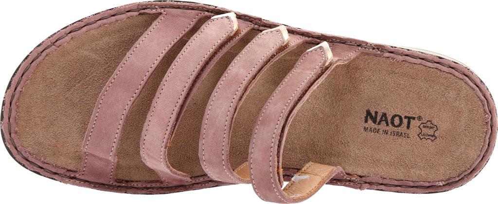 Women's Naot Trevi Slide, Mauve Nubuck/Rose Gold Leather, large, image 5