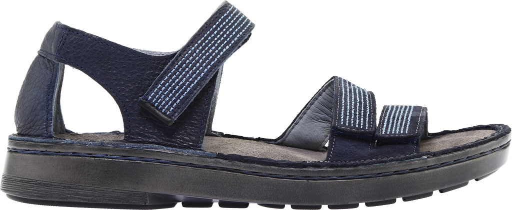 Women's Naot Amarante Walking Sandal, Ink Leather/Navy Velvet Nubuck/Jet Black Leather, large, image 2