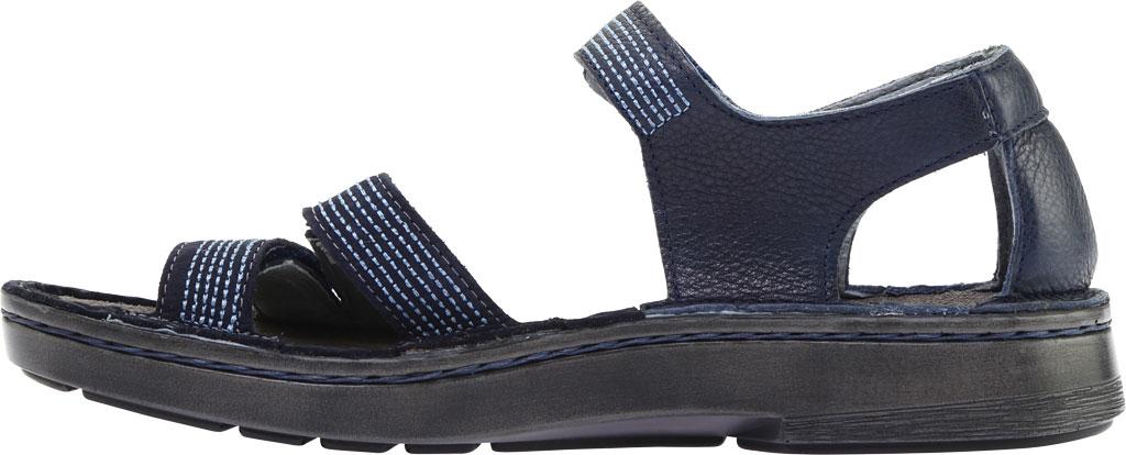 Women's Naot Amarante Walking Sandal, Ink Leather/Navy Velvet Nubuck/Jet Black Leather, large, image 3