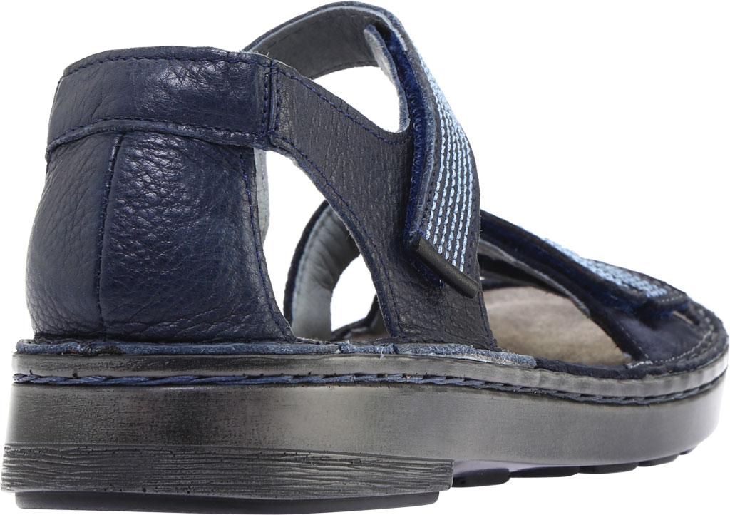 Women's Naot Amarante Walking Sandal, Ink Leather/Navy Velvet Nubuck/Jet Black Leather, large, image 4