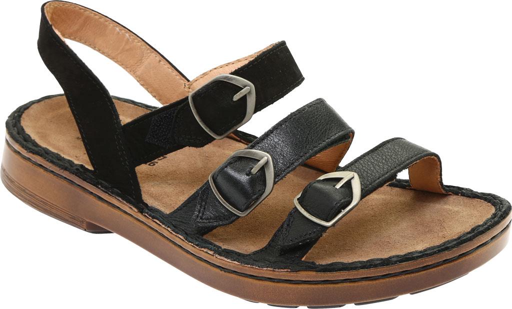 Women's Naot Lamego Strappy Sandal, Soft Black Leather, large, image 1